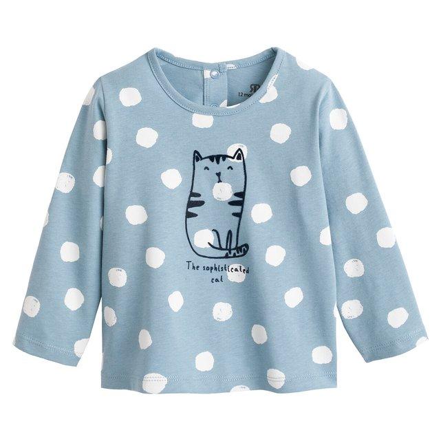 Μακρυμάνικη εμπριμέ μπλούζα, 3 μηνός - 4 ετών