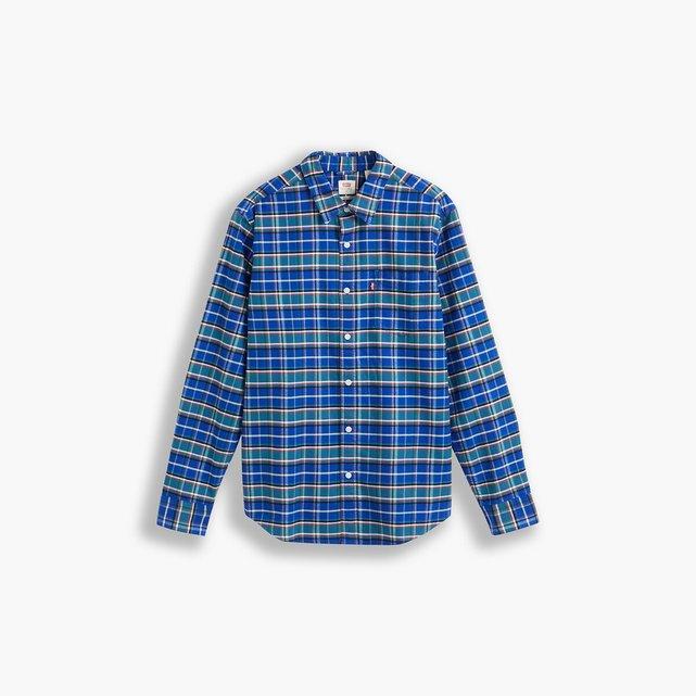 Καρό slim πουκάμισο με τσέπη στο στήθος