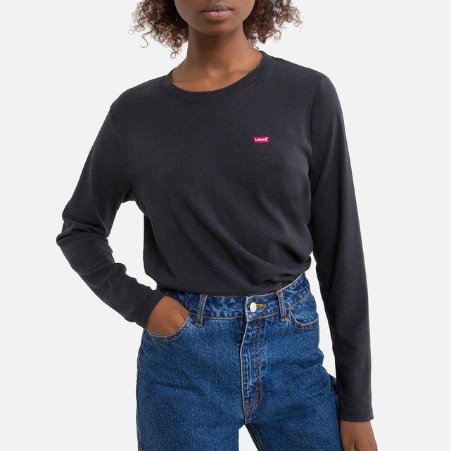 Μακρυμάνικη μπλούζα με στρογγυλή λαιμόκοψη.