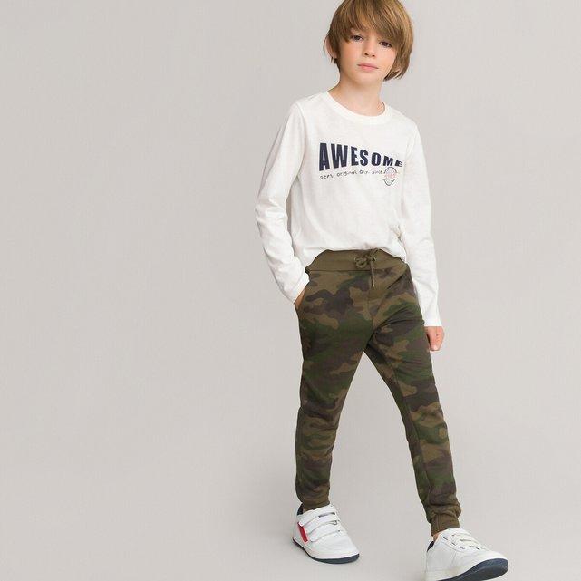 Παντελόνι jogpant παραλλαγής από φανέλα, 3-14 ετών