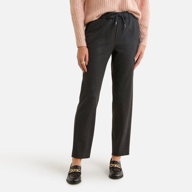 Παντελόνι σε γραμμή σωλήνα με κορδόνι που σφίγγει