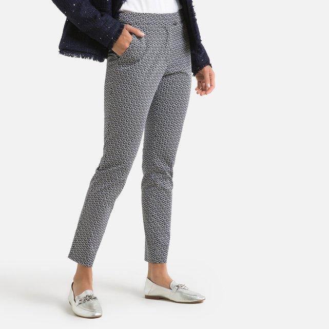 Σιγκαρέτ παντελόνι με εμπριμέ μοτίβο