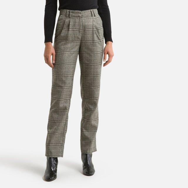 Καρό παντελόνι σε ίσια γραμμή