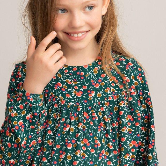 Εμπριμέ φλοράλ μπλούζα, 3-12 ετών