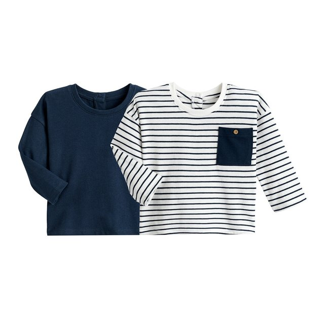 Σετ 2 μπλούζες από οργανικό βαμβάκι, 1 μηνός - 4 ετών
