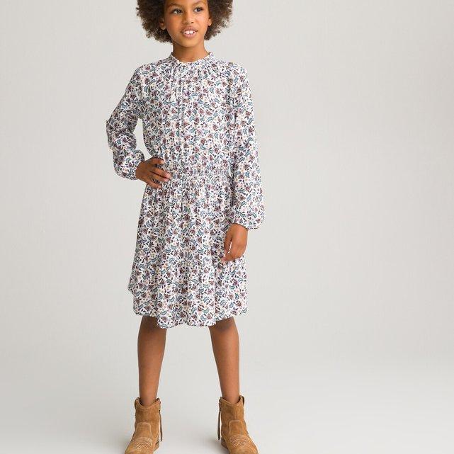 Μακρυμάνικο φλοράλ φόρεμα, 3-12 ετών
