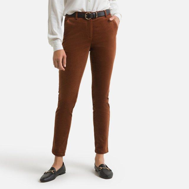 Παντελόνι σε γραμμή σωλήνα από βελούδο