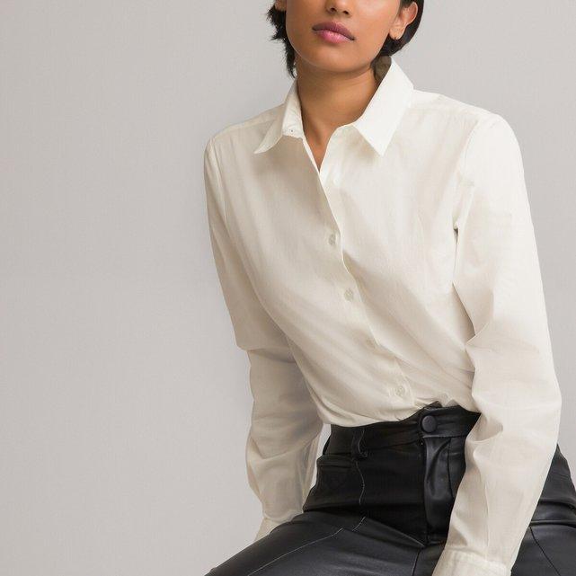 Μακρυμάνικο πουκάμισο σε μεσάτη γραμμή