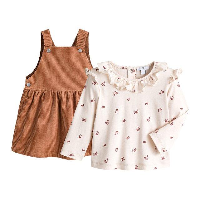 Σύνολο φόρεμα και μπλούζα, 3 μηνών - 4 ετών