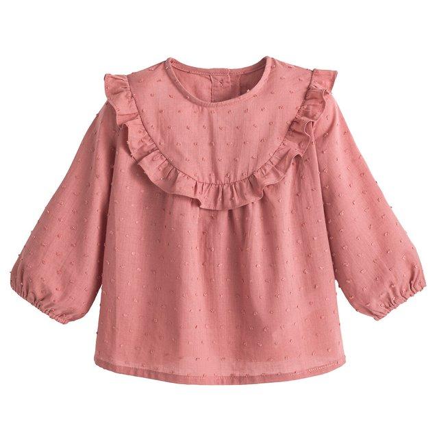 Μακρυμάνικη μπλούζα με ανάγλυφα πουά, 3 μηνών - 4 ετών