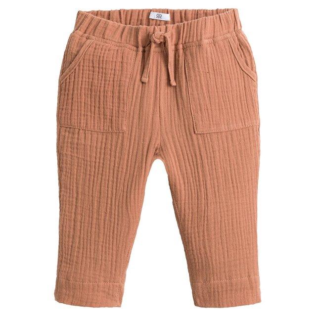 Παντελόνι jogpant από βαμβακερή γάζα, 3 μηνών - 4 ετών