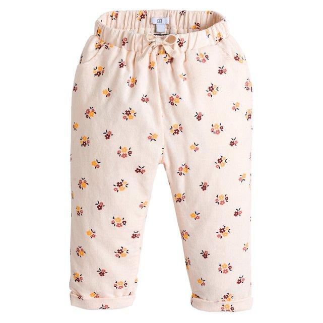 Εμπριμέ παντελόνι από βελούδο κοτλέ, 3 μηνών - 4 ετών