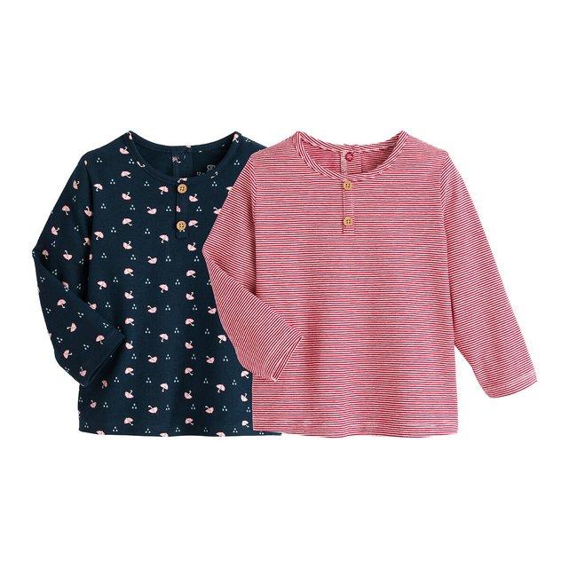 Σετ 2 μακρυμάνικες μπλούζες, 3 μηνών - 4 ετών