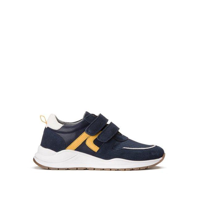 Δερμάτινα αθλητικά παπούτσια με βέλκρο, 26-39