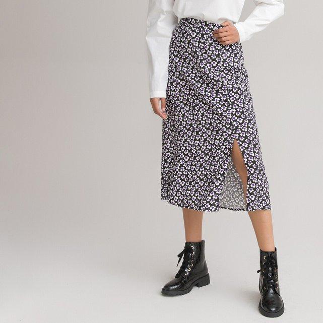 Μίντι φούστα με φλοράλ μοτίβο
