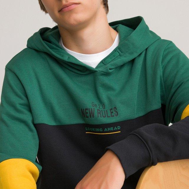 Φανελένιο φούτερ με κουκούλα από οργανικό βαμβάκι, 10-18 ετών