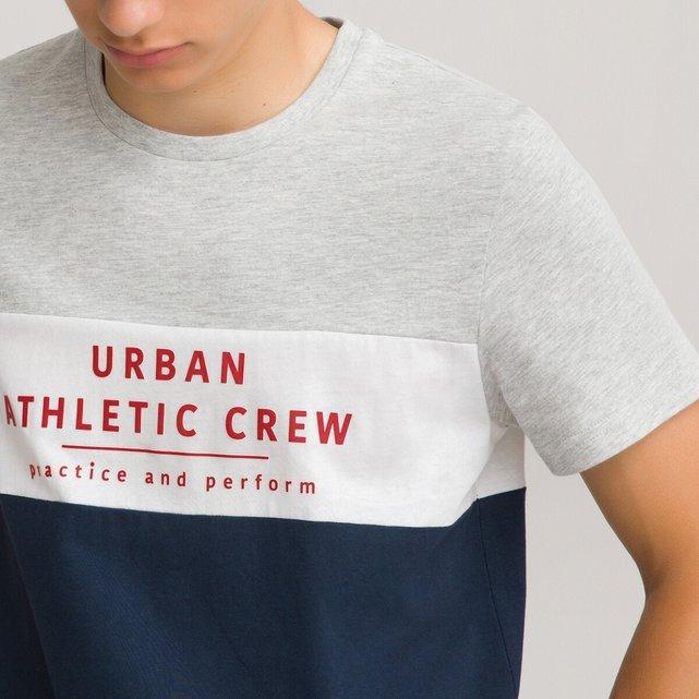 T-shirt από οργανικό βαμβάκι με μοτίβο μπροστά, 10-18 ετών