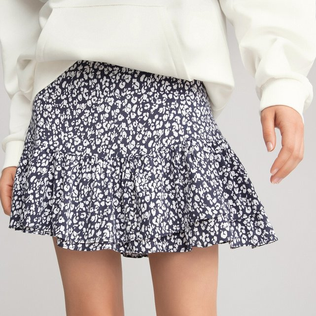 Φλοράλ φούστα με σούρες, 10 - 18 ετών