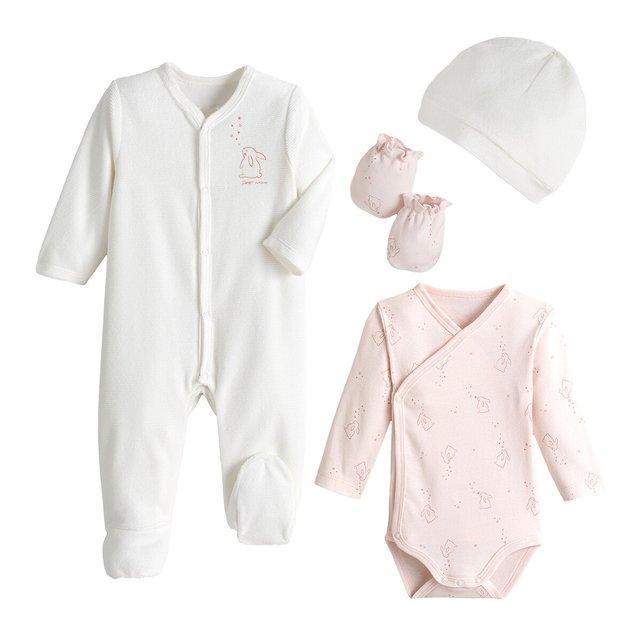 Βελουτέ σύνολο για νεογέννητα, πρόωρο - 6 μηνών