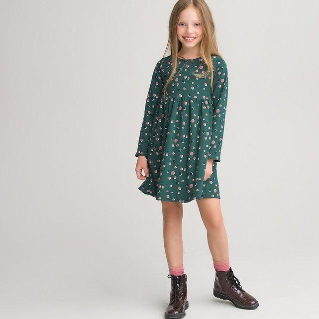 Μακρυμάνικο φόρεμα διπλής όψης, 3-12 ετών