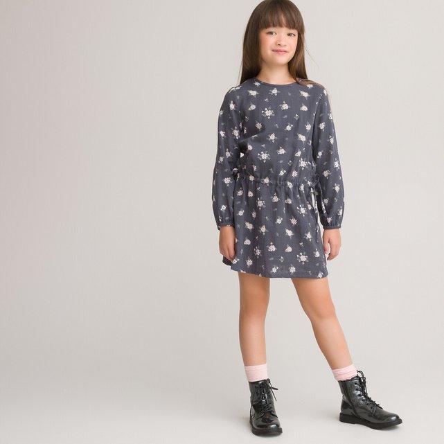 Μακρυμάνικο φόρεμα από οργανικό βαμβάκι, 3-12 ετών