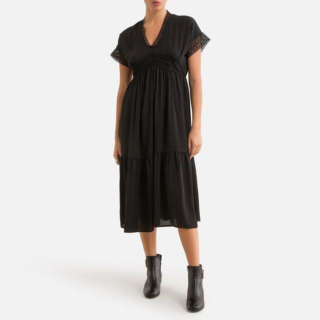 Μίντι κοντομάνικο φόρεμα