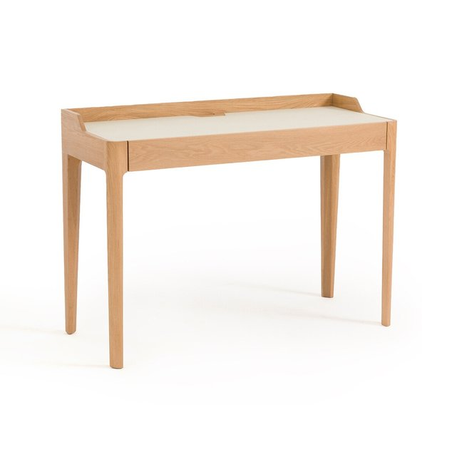 Γραφείο Junius από ξύλο δρυ/λινόλεουμ, σχεδίασης E. Gallina