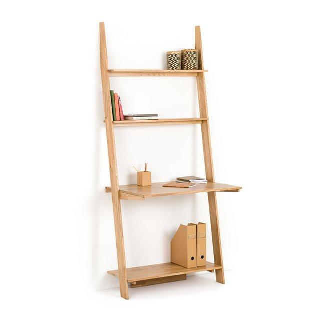 Επίτοιχη ραφιέρα-γραφείο από ξύλο, Domeno