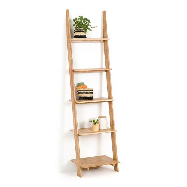 Επίτοιχη σκαλιέρα από ξύλο δρυ, Domeno