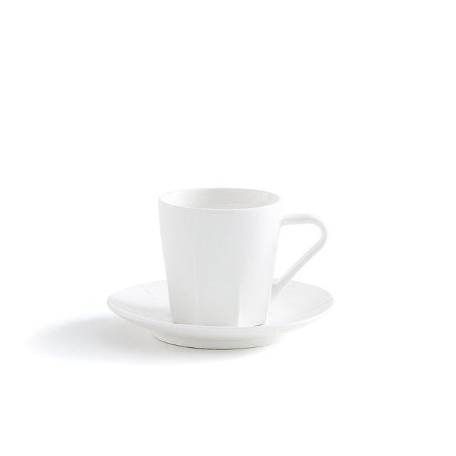 Σετ 4 φλιτζανοπιατάκια καφέ, Aubin