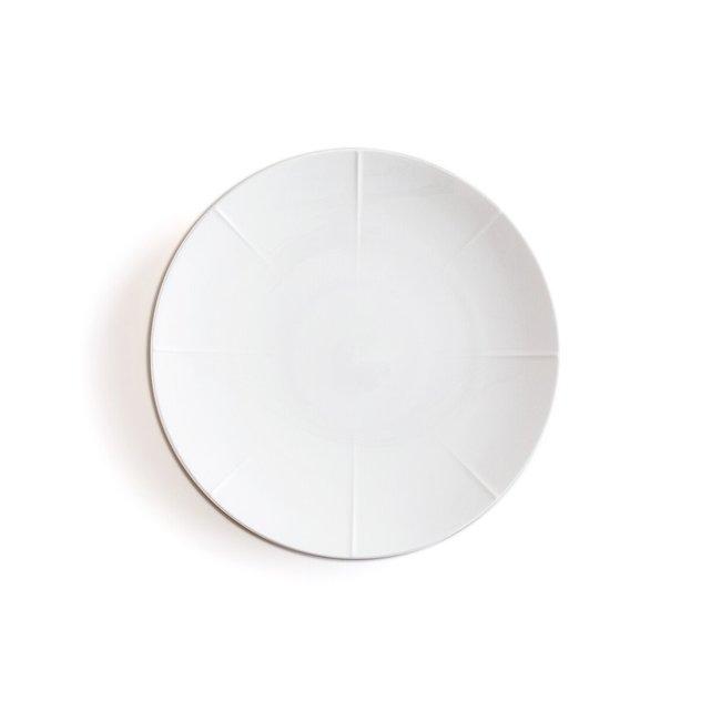 Σετ 4 ρηχά πιάτα από πορσελάνη, Aubin