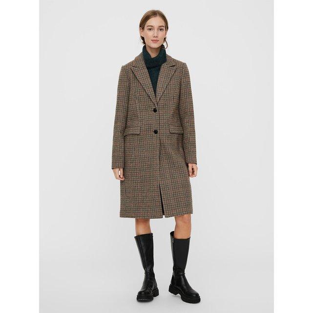 Καρό παλτό σε ίσια γραμμή