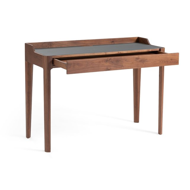Γραφείο Junius από ξύλο καρυδιάς/λινόλεουμ, σχεδίασης E. Gallina