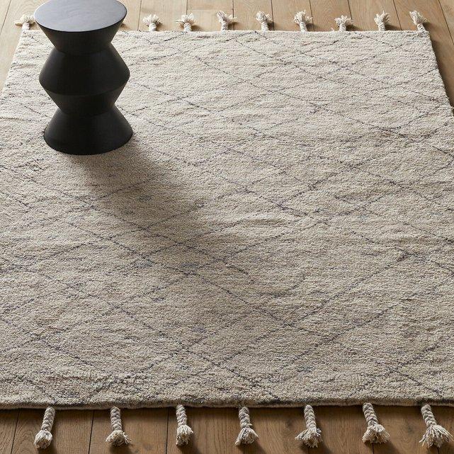 Χειροποίητο μάλλινο χαλί σε στυλ berber, Natoum