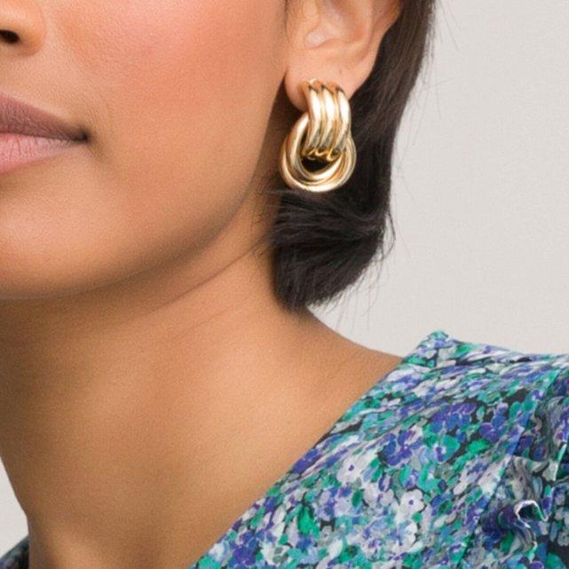Χρυσαφί σκουλαρίκια με κρίκους
