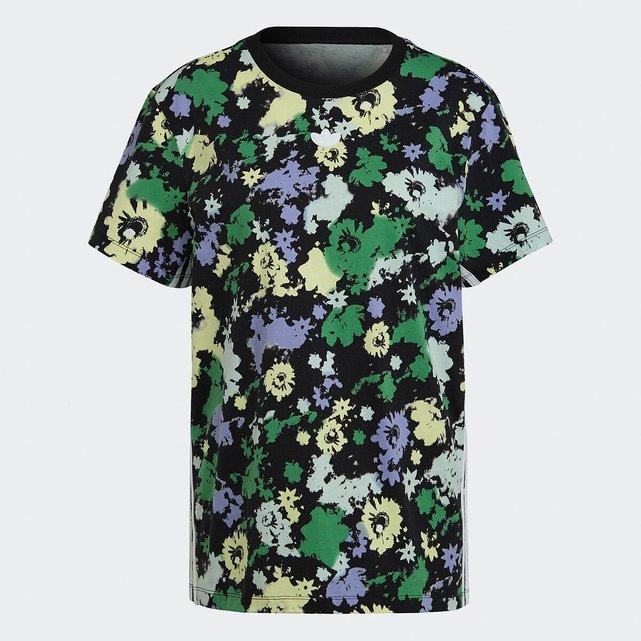 Κοντομάνικη φλοράλ μπλούζα από οργανικό βαμβάκι
