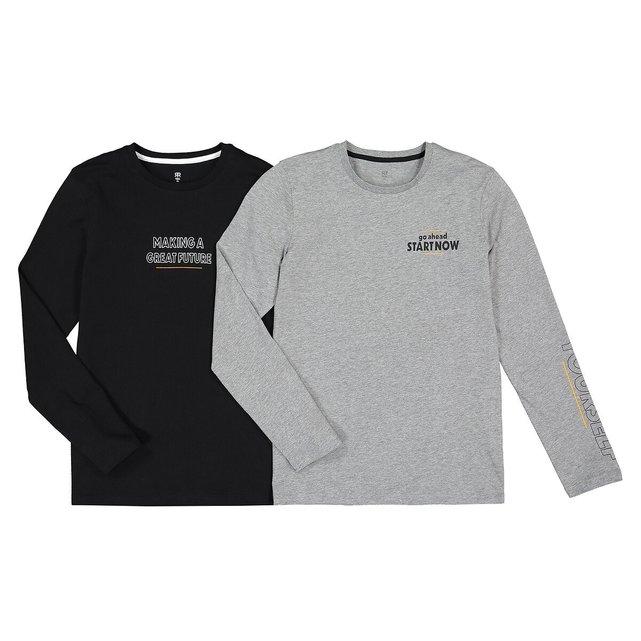 Σετ 2 T-shirt από οργανικό βαμβάκι, 10-18 ετών