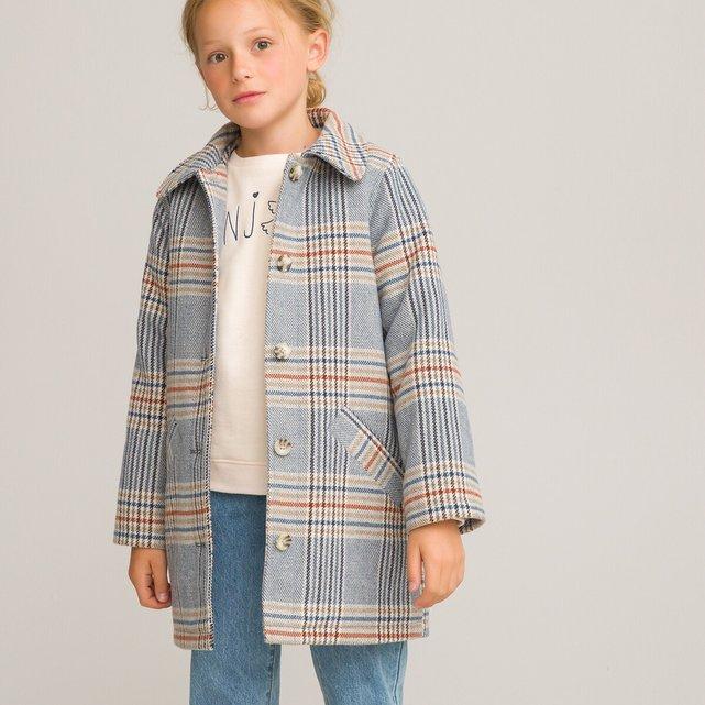 Καρό παλτό για τις ενδιάμεσες εποχές, 3-14 ετών