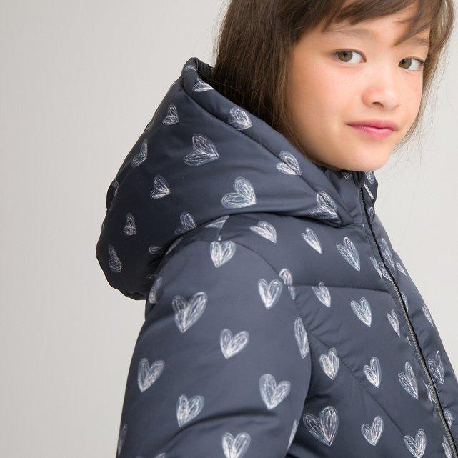 Καπιτονέ μπουφάν με κουκούλα και φλις επένδυση, 3-12 ετών