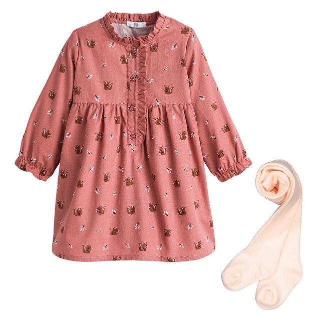 Σύνολο φόρεμα και καλσόν, 3 μηνών - 4 ετών