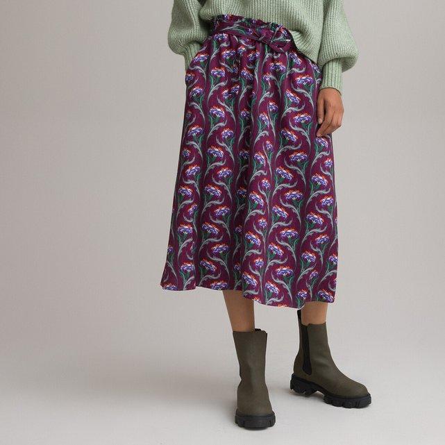 Εβαζέ μίντι φούστα με ζώνη