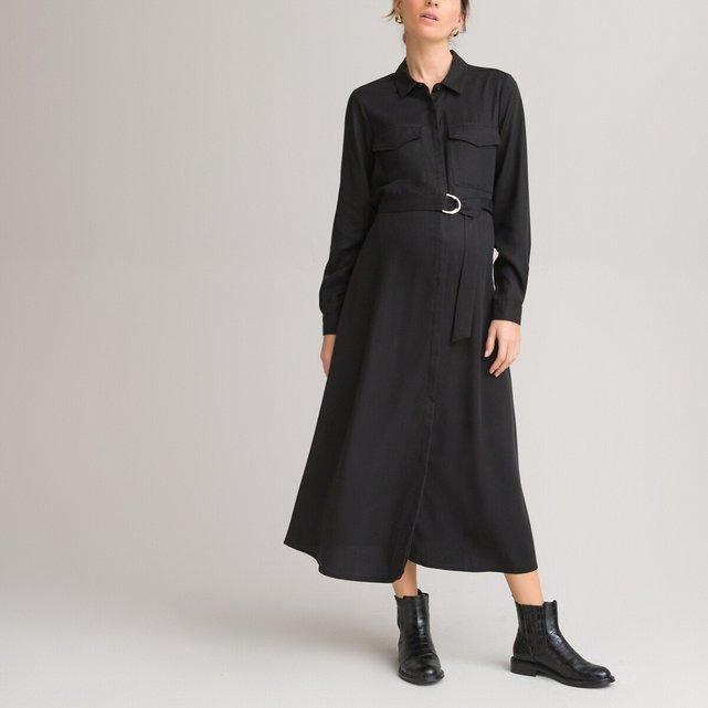 Σεμιζιέ φόρεμα εγκυμοσύνης από lyocell