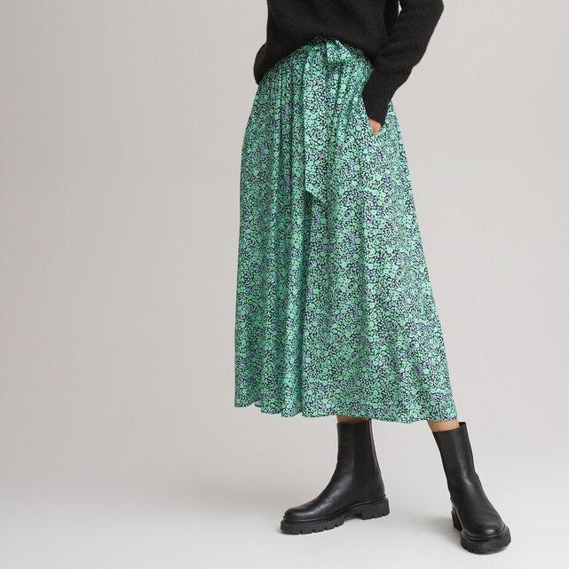 Μακριά εβαζέ φούστα με ζώνη