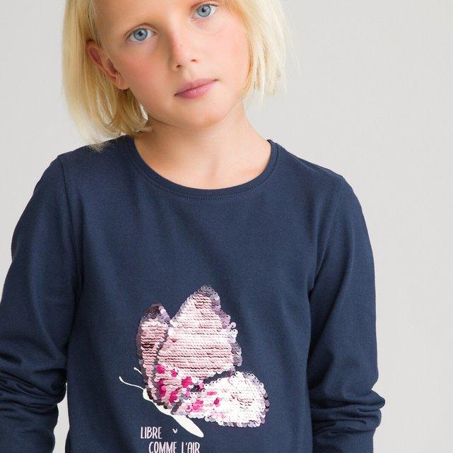 """Μπλούζα με """"μαγικές"""" πούλιες από οργανικό βαμβάκι, 3-12 ετών"""