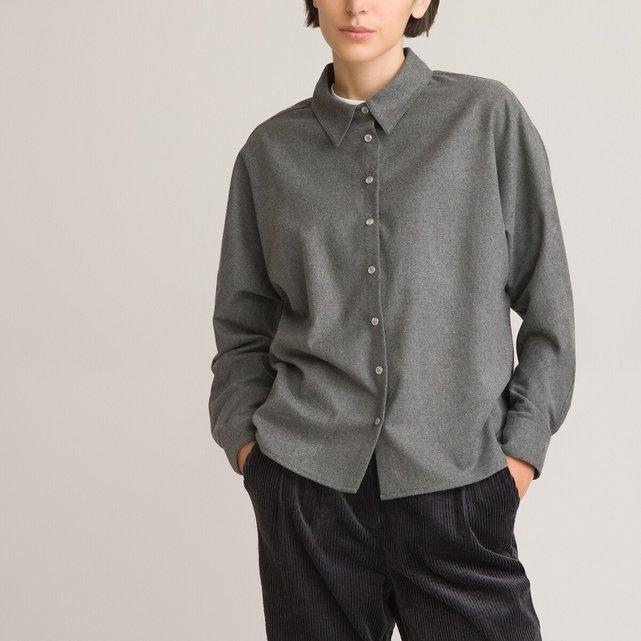 Φαρδύ πουκάμισο με μανίκια νυχτερίδα