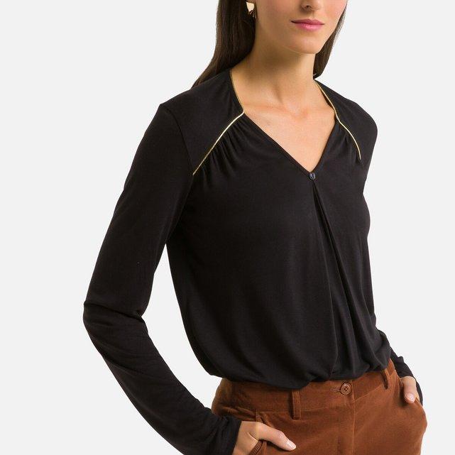 Μακρυμάνικη μπλούζα με V