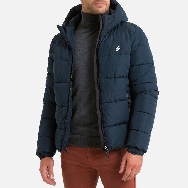 Καπιτονέ μπουφάν με φερμουάρ και κουκούλα, Sports Puffer