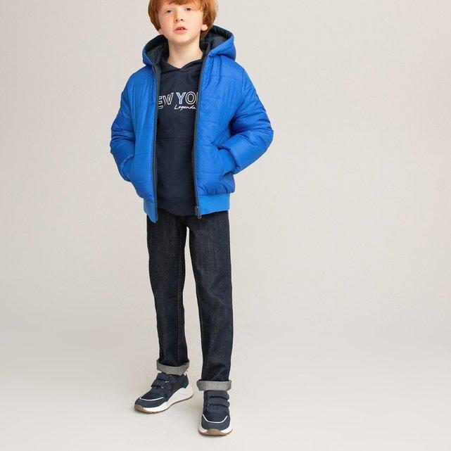 Καπιτονέ μπουφάν διπλής όψης με κουκούλα, 3-12 ετών