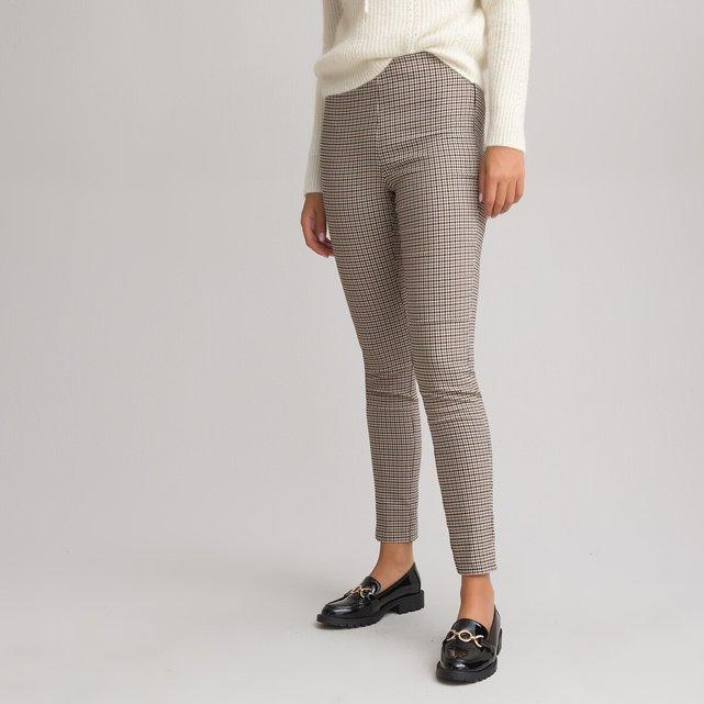 Εφαρμοστό παντελόνι με μοτίβο πιε-ντε-πουλ