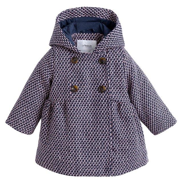 Ζακάρ παλτό με κουμπιά και κουκούλα
